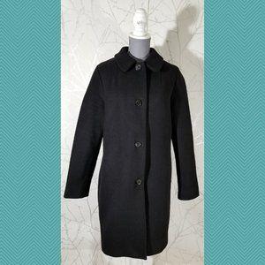 Wilfred Black Wool Blend Oversized Long Coat